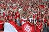El mensaje de los hinchas del Inter de Brasil a la hinchada del DEPORTES TOLIMA, en la previa del juego en Beira-Rio