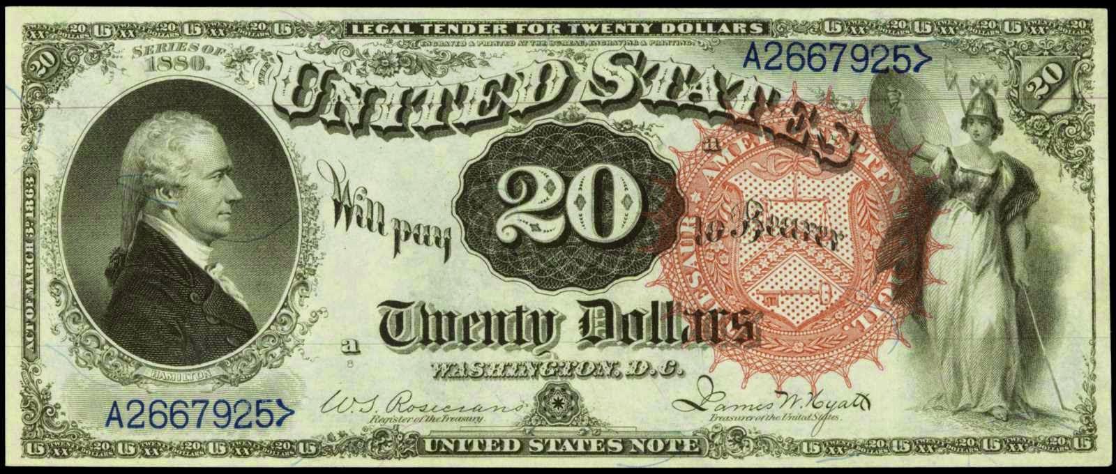 United States 20 Dollar bill Alexander Hamilton