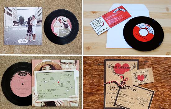 matrimonio tema musica, rock'n'roll wedding invitations
