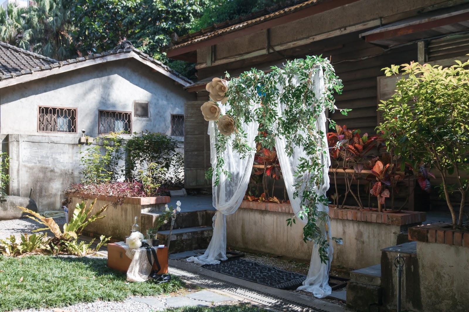 我跟林先生在青田七六舉行婚禮儀式的DIY佈置