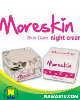 Moreskin Krim Malam /Night Cream Pemutih Wajah Kinclong