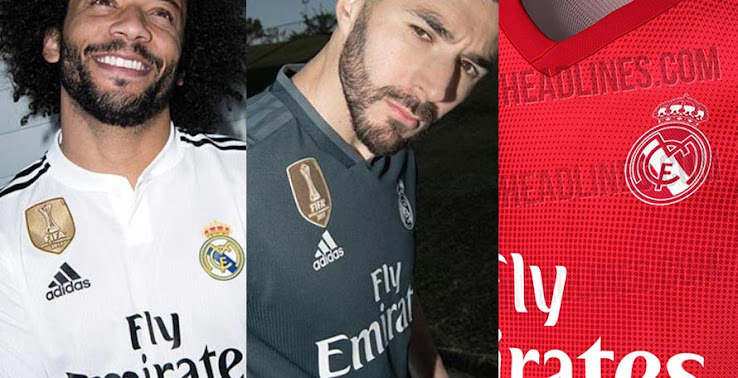 big sale b0a4f f7d3e Adidas Real Madrid 18-19 Home & Away Kits Released + Third ...