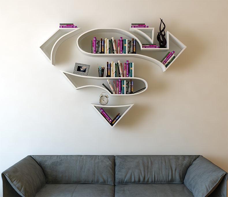 Estanterías de superhéroes para tu colección de libro