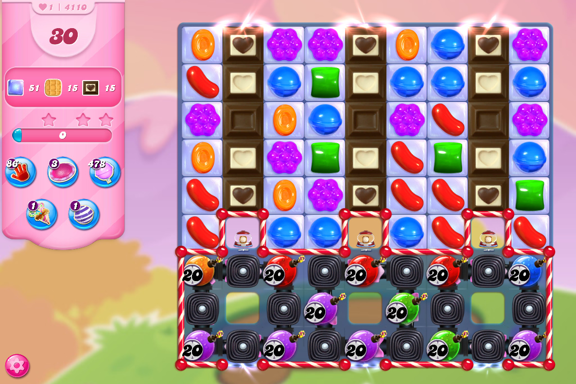 Candy Crush Saga level 4110
