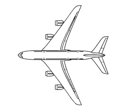 Gambar Mewarnai Pesawat Terbang - 10