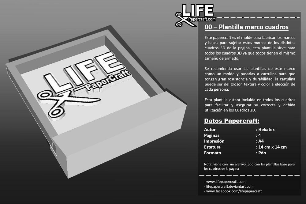 00 – Plantilla marco cuadros - LifePapercraft.com