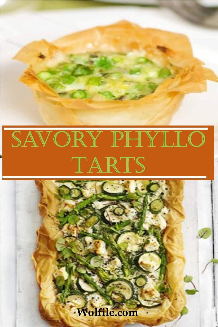 Savory Phyllo Tarts (crispy tarts) Recipe