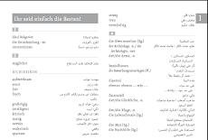 Glossar Deutsch menschen B1 Übersetzer