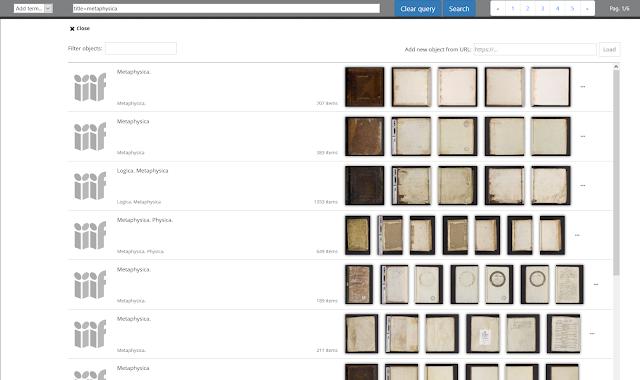 Voorbeeld zoek- en pagineringsfunctie KU Leuven Mirador viewer
