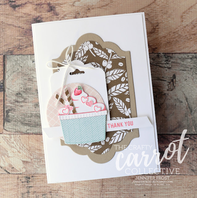 Coffee Cafe, Ice Cream Cup, Stampin' Up!, The Crafty Carrot Collective, Free tutorial rewards, Papercraft by Jennifer Frost