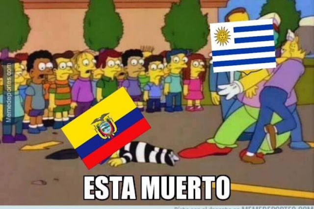 memes Ecuador Uruguay