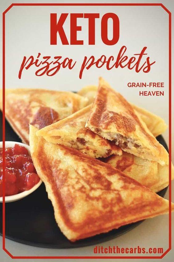 Easy Keto Pizza Pockets