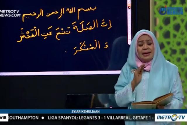 Kemenag Benarkan Ustazah Metro TV Salah Tulis Alquran