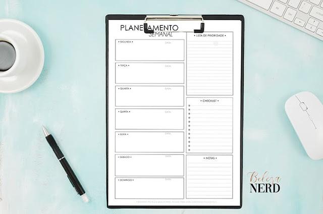 planner semanal gratis
