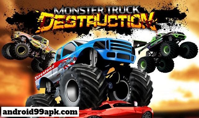 لعبة Monster Truck Destruction v3.2.3112 مهكرة كاملة بحجم 135 MB للأندرويد