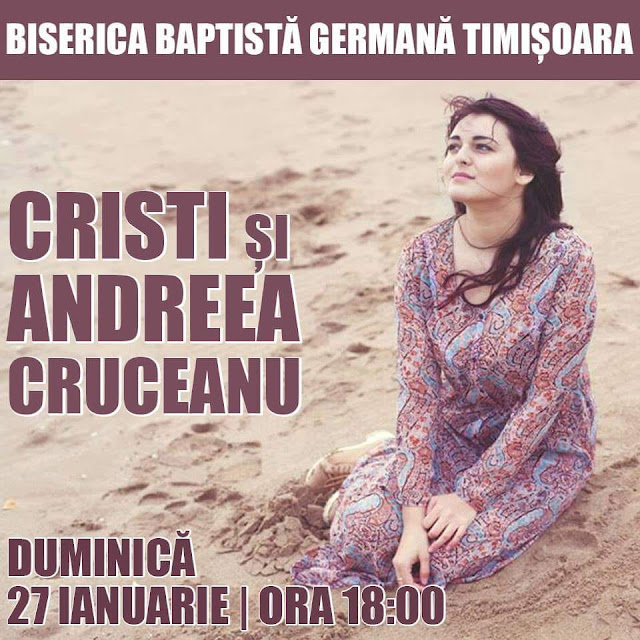 Cristi și Andreea Cruceanu la Biserica Germana Timisoara