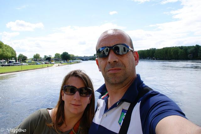 Vista del Rodano dal Ponte Saint Benezet e noi di ViaggiamoHg