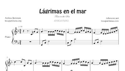 Lágrimas en el Mar de Ainhoa Beristain Partitura de Piano Principiantes