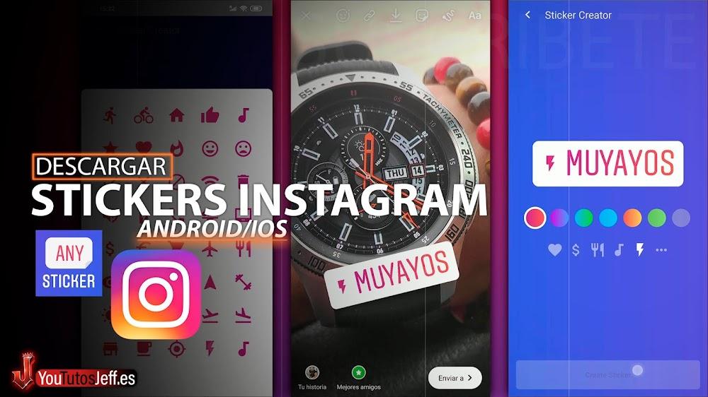 Hacer STICKERS Instagram Stories🔥👌