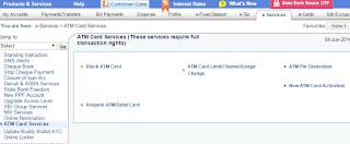 Sbi Atm Blocking through internet banking
