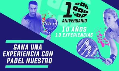 """10 Aniversario Padel Nuestro: """"10 años, 10 experiencias"""". Sorteos, Clinic y muchas sorpresas más."""