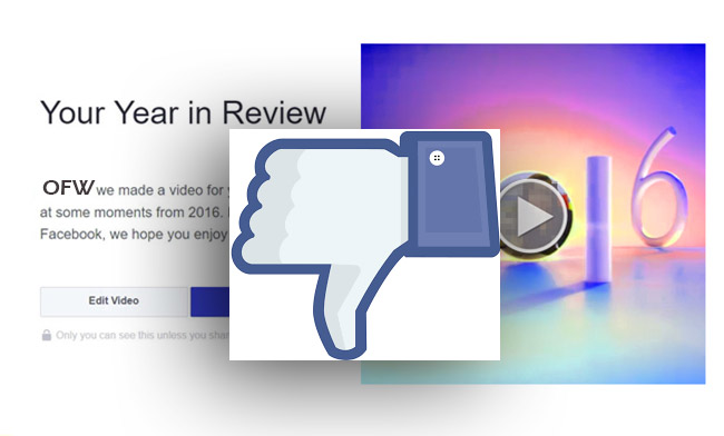 Facebook Year in Review 2016 User's Disappointments
