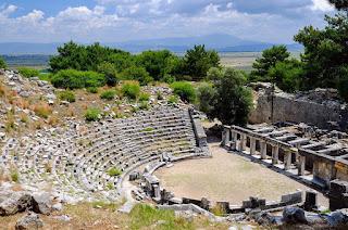 priene antik kenti priene gymnasium apollon tapınağı artemis tapınağı