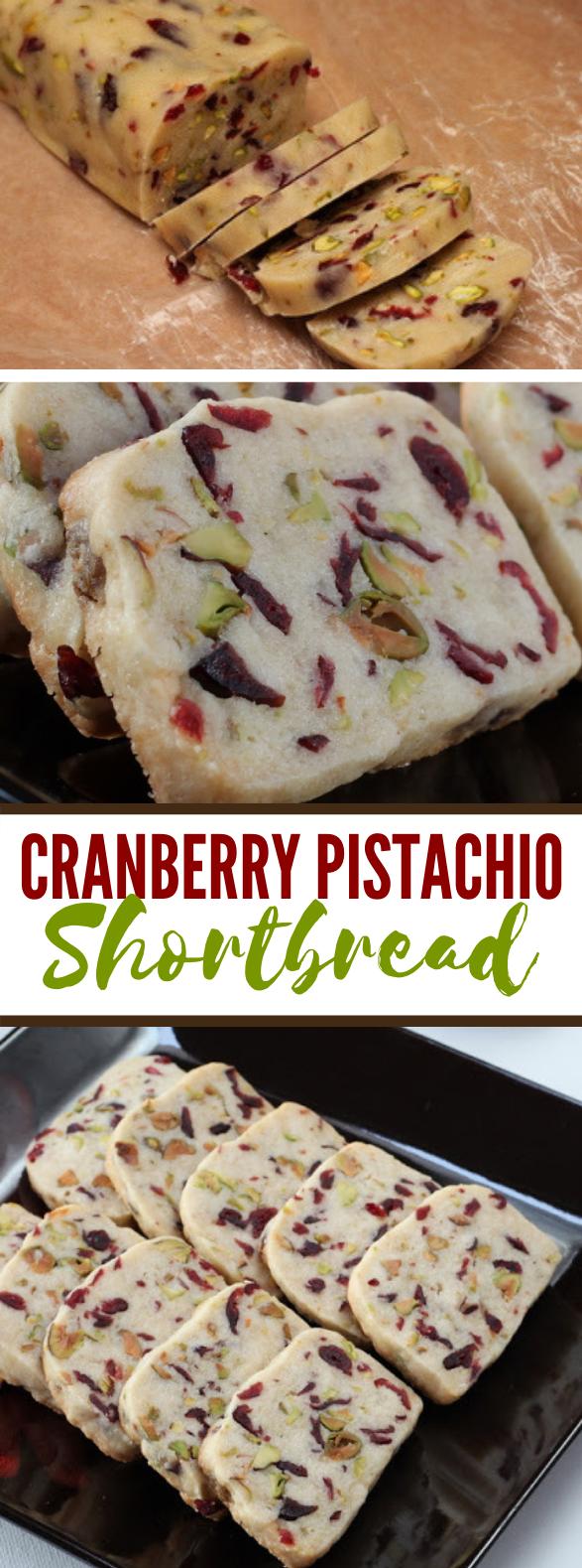Cranberry Pistachio Shortbread #desserts #christmas