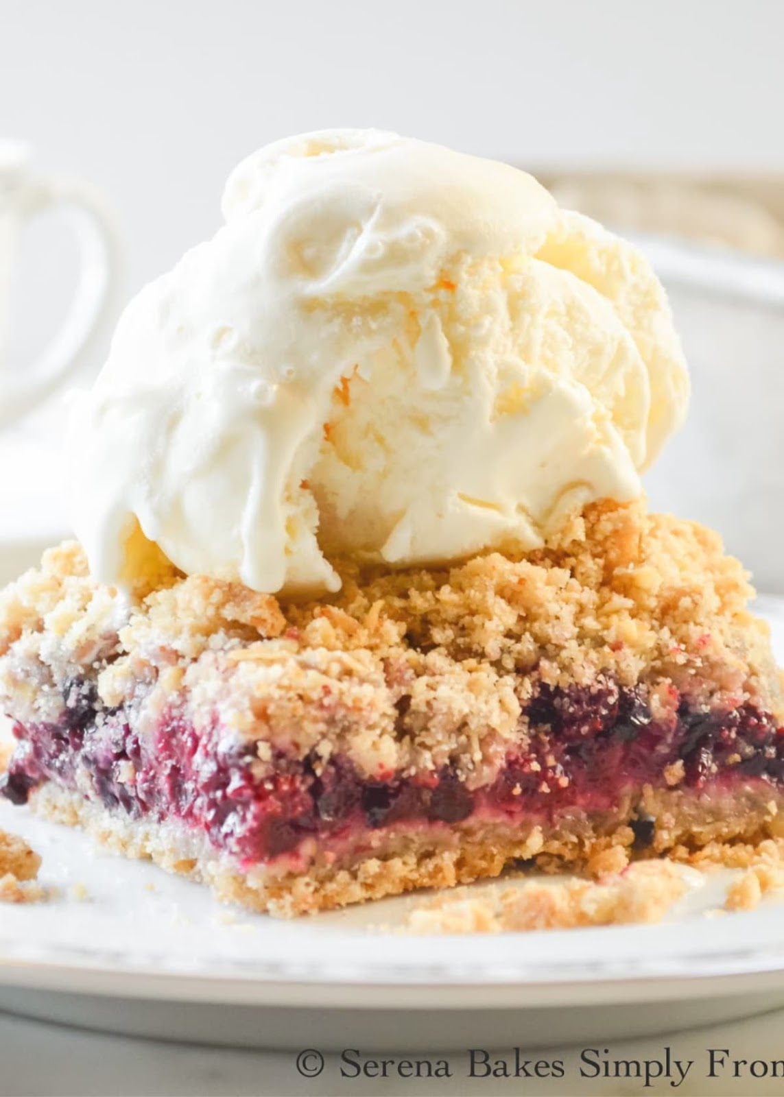 Blackberry Crumb Bars are an east to make dessert recipe and a guaranteed hit from Serena Bakes Simply From Scratch.