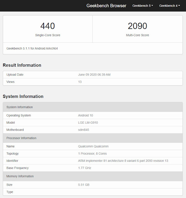 LG VELVET 4G specs, live images surface — Snapdragon 845, 6GB RAM, Android 10
