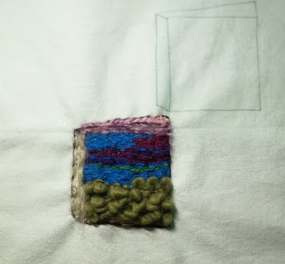 Book image using various forms of couching embroidery