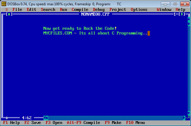 My C Files: Installing Turbo C on Windows 7 64 bit ~ DosBox