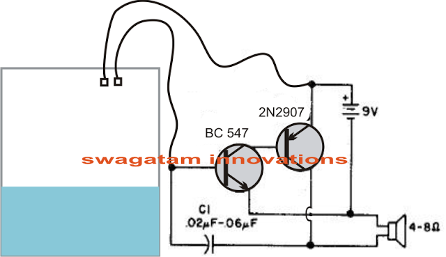 water level buzzer circuit
