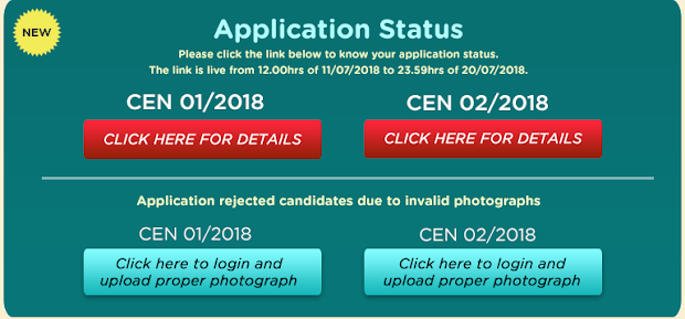 RRB ALP CEN01/2018 & Group D CEN02/2018 Application Status