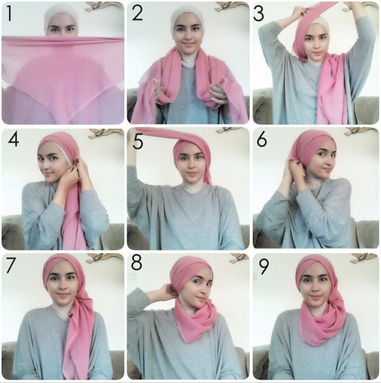 Tutorial Hijab Pashmina Ala Dian Pelangi Tutorial Hijab Paling