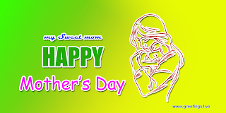 "beautiful greetings my sweet mom "" Happy Mothers Day "" mother holding son"