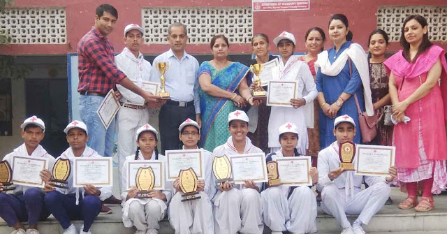 Junior Red Cross of Sarai Khawaja Government School won nine awards in training camp at Haridwar