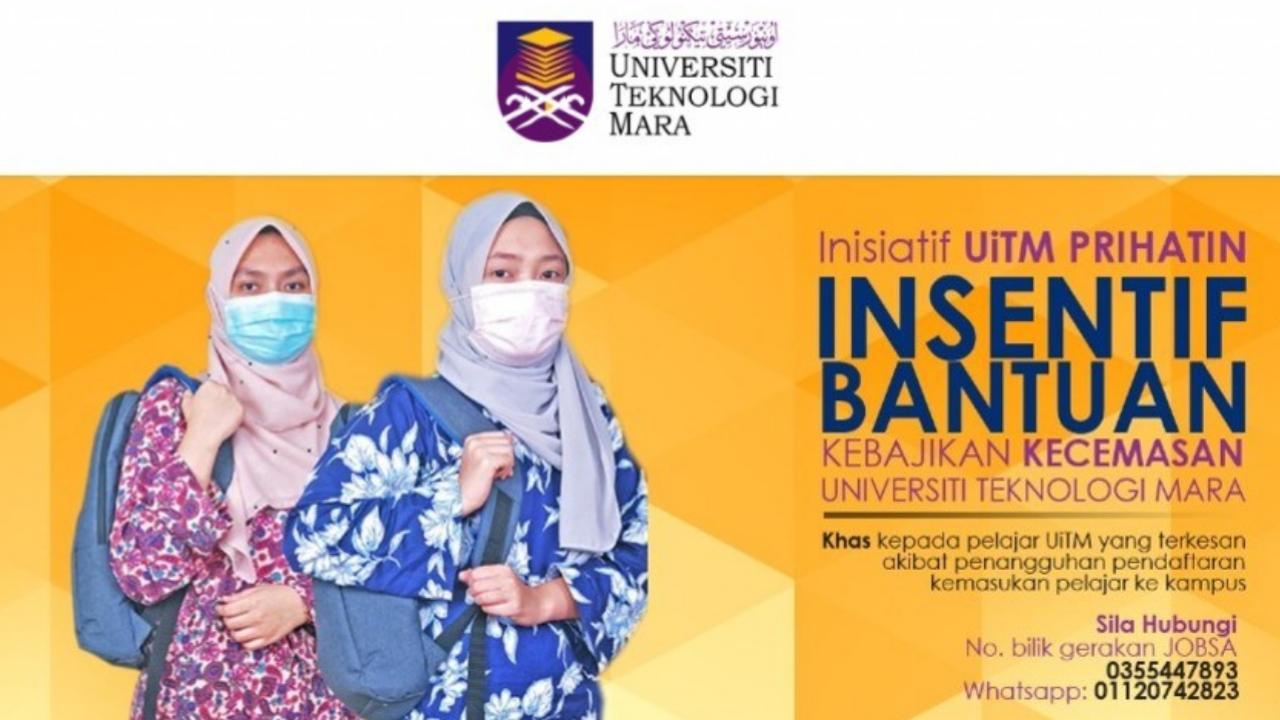 Permohonan Insentif UITM Prihatin RM100 Kepada Pelajar UITM