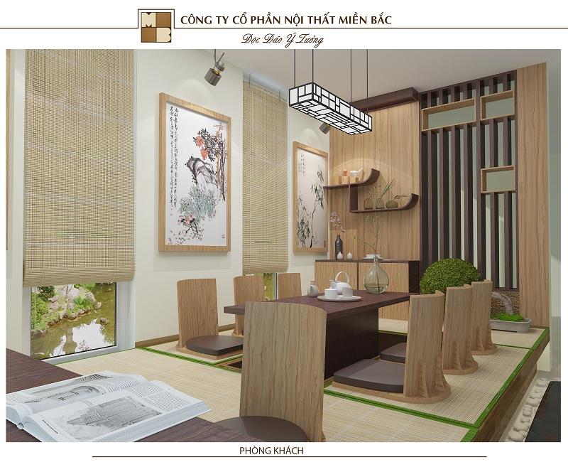 Mẫu thiết kế nội thất phong cách Nhật Bản theo phong cách thiền định, mộc mạc