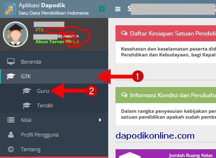 Klik menu GTK dan klik Guru