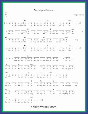 not angka serumpun sebalai lagu daerah bangka belitung