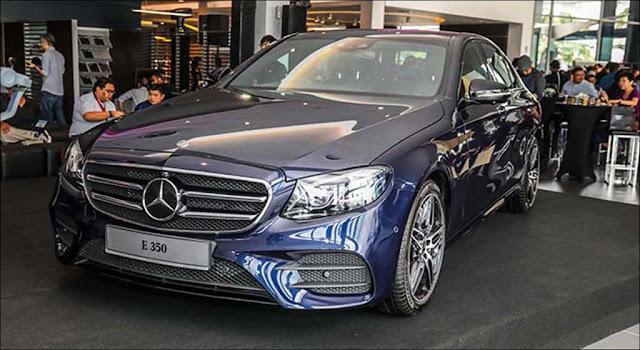 Hình ảnh thực tế của Mercedes E350 AMG ra mắt tại Malaysia.
