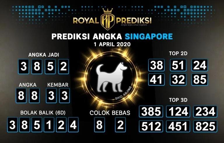 Prediksi Togel Singapura Rabu 01 April 2020 - Prediksi Singapore