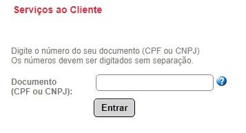 Lugar onde colocar seu número de CNPJ ou CPF no site da CEEE