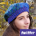 Round the Blend Tam, a Twitter knit-a-long