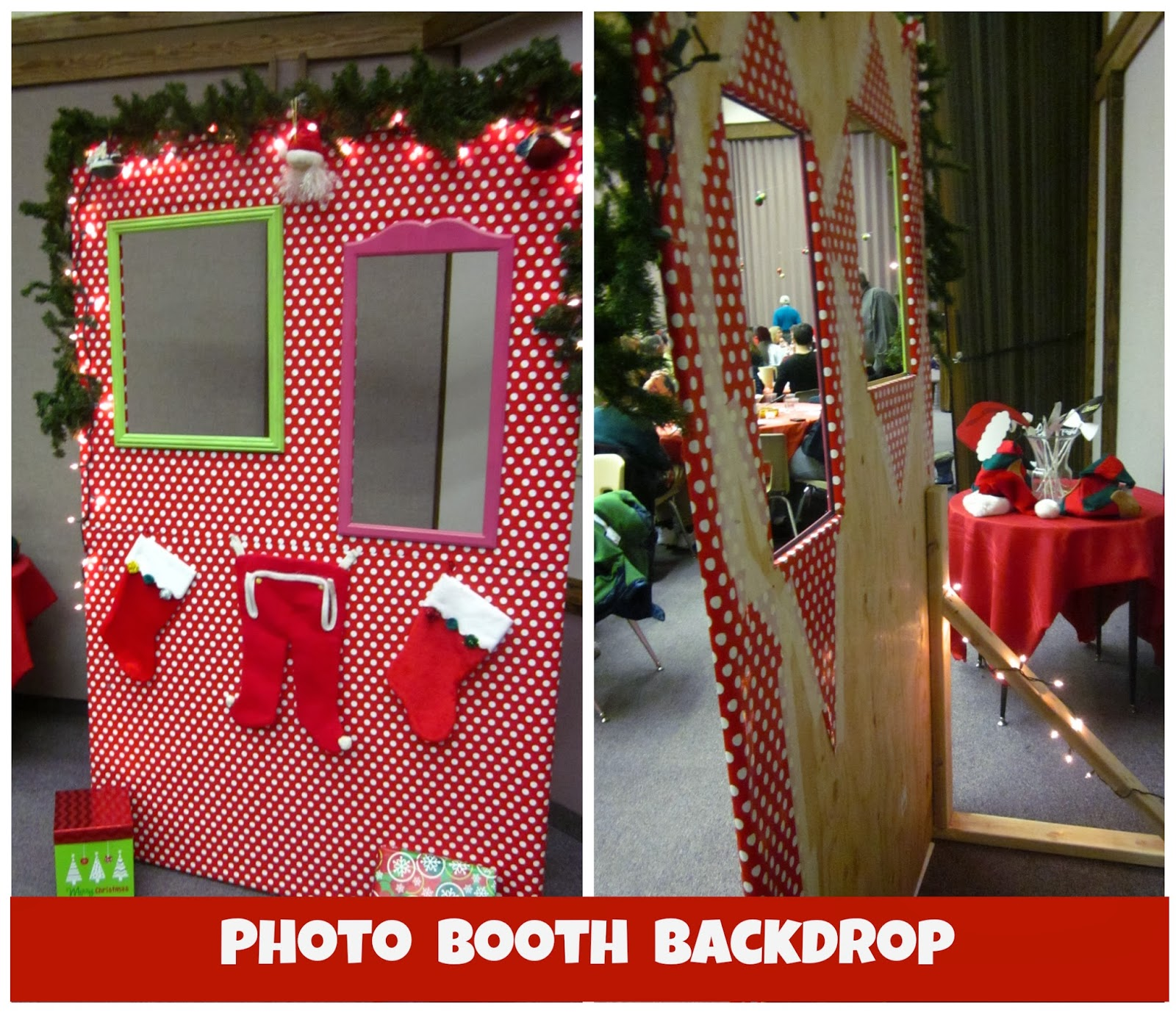Christmas Party Photo Booth Backdrop Ct48