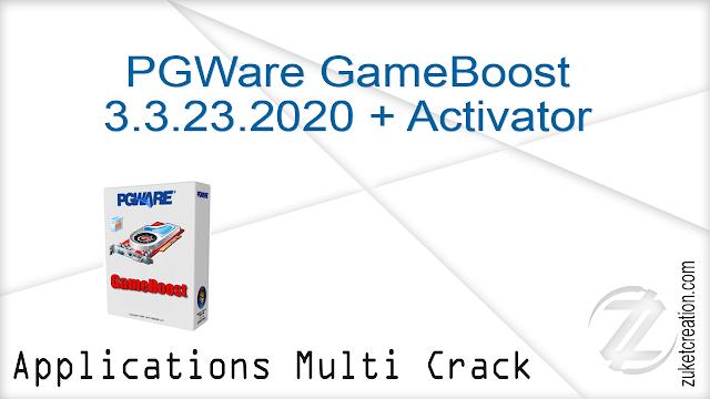 PGWare GameBoost 3.3.23.2020 + Activator