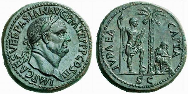 Sestercio de Vespasiano Judea capta