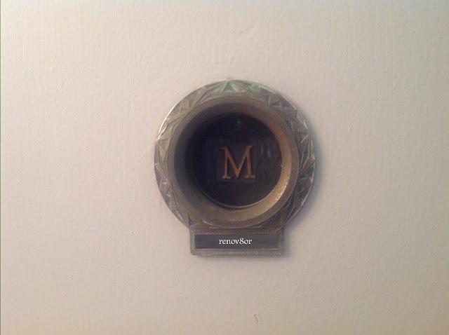 restoring midcentury door peephole