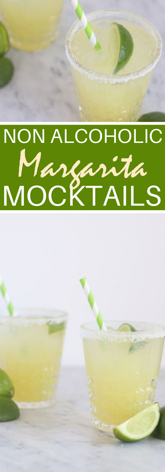 Margarita Mocktail #nonalcohol #drinks #cocktails #refreshing #margarita